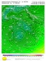 Fig.1 – Pressione al livello del mare nella notte di mercoledì 21 marzo