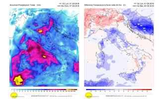 Temperature autunnali e tante piogge per i prossimi 10 giorni