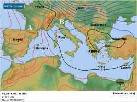 Fig.1 - Tipica situazione di Foehn domenica 30 ottobre
