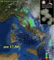 Fig.1 Piogge alle ore 17.40 viste al Radar Meteo